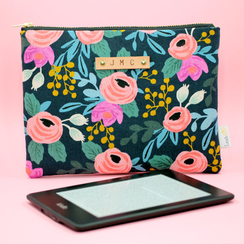 Navy Rosa Kindle Paperwhite Case
