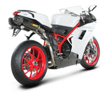 Akrapovic Slip-On Line (Carbon) Open Exhaust System 2008-2014 Ducati 848 / EVO