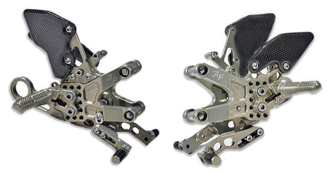 Attack Performance Adjustable Rearsets 2010-2014 BMW S1000RR - Gold