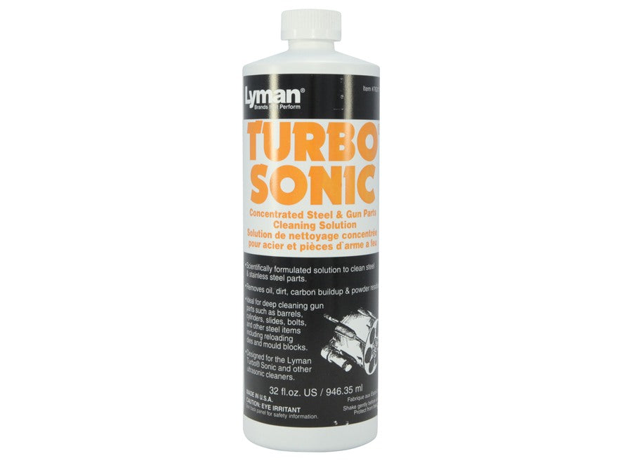 Lyman Turbo Sonic Concentrated Steel & Gun Parts Cleaning Solution 16 fl.oz