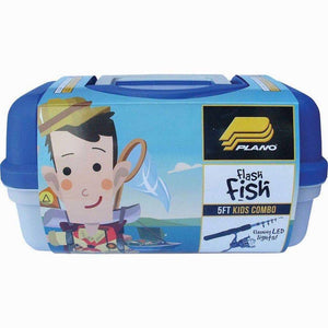 PLANO BOYS FLASH FISH COMBO BLUE TACKLE BOX AND TELESCOPIC ROD