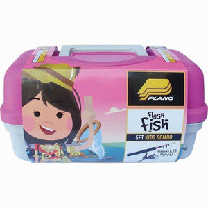 PLANO GIRLS FLASH FISH COMBO PINK - TACKLE BOX & TELESCOPIC ROD COMBO