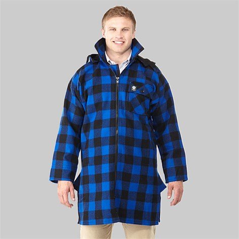 SWANNDRI MOSGIEL ZIP FRONT BUSH SHIRT -BLUE/BLACK