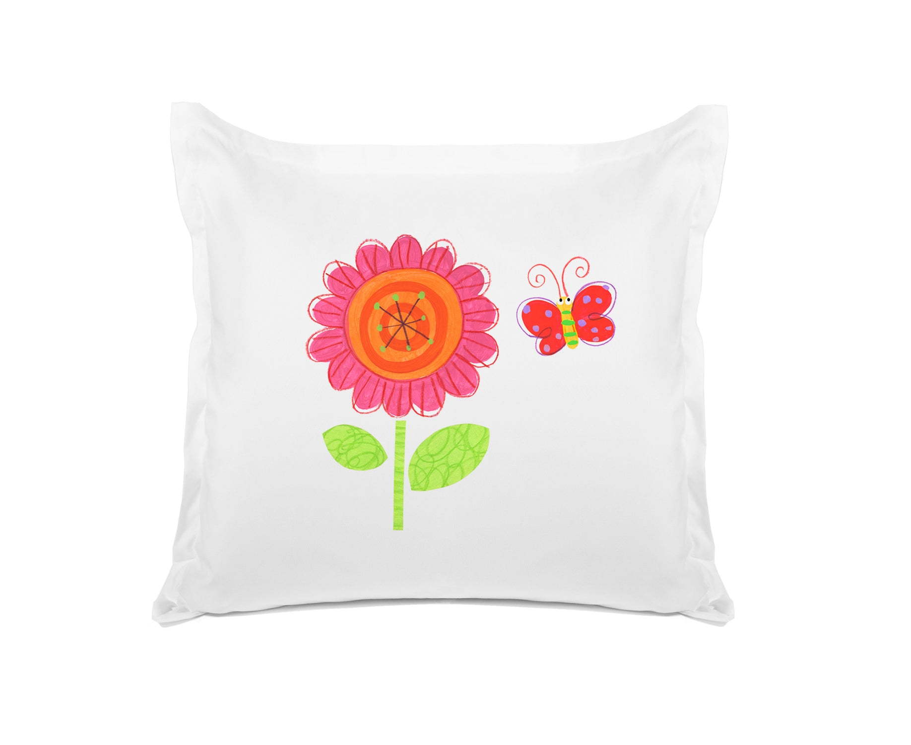 Flower Power - Personalized Kids Pillowcase Collection-Di Lewis