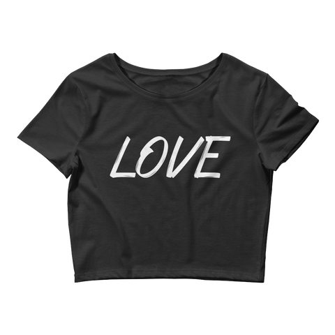 Women's Crop Top with Love