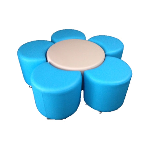 The Flower Ottoman Set by Keen Education Furniture - Ottomans