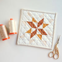 Modern Christmas star quilt pattern in 5 sizes