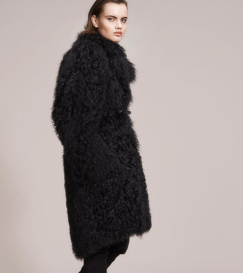 OPSUNDBAY - WOMENS BLACK CASHMERE FUR COAT by Womenswear Designer Dianna Opsund Bay