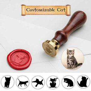 Cat Wax Seal Stamp with Custom Name