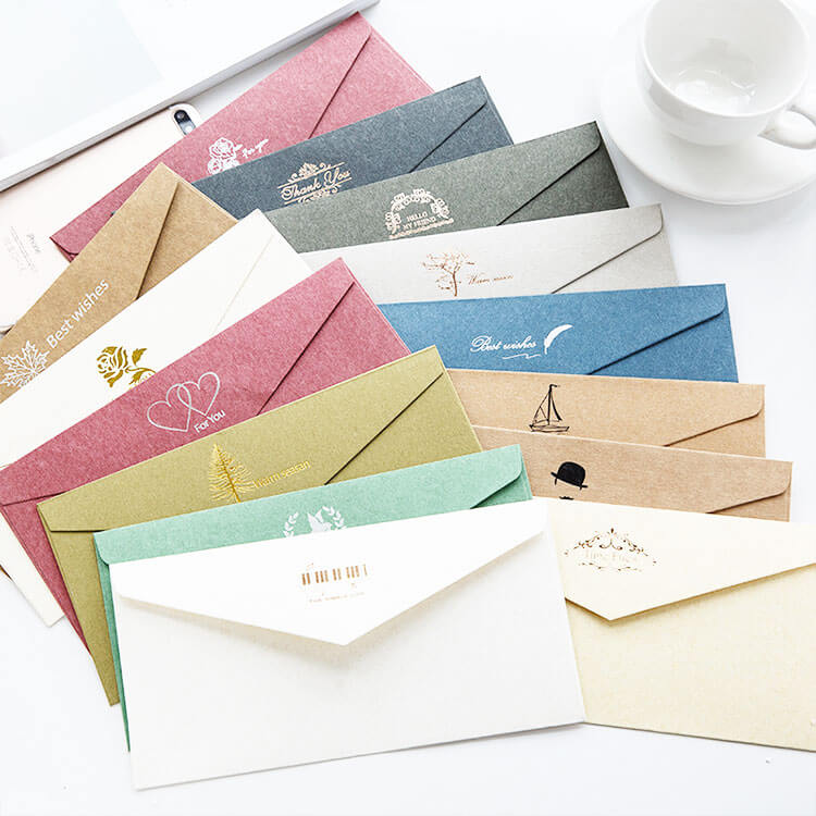 Customizable Foiled Envelope with Greetings