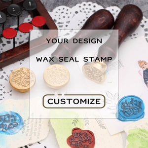 Fully Customized Wax Seal Stamp with Your Own Artwork