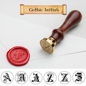 Gothic Single Initial Wax Seal Stamp