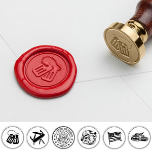 Military Art Wax Seal Stamp for Veterans Day