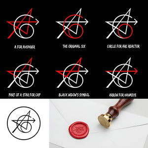 The Original Avengers Tattoo Wax Seal Stamp