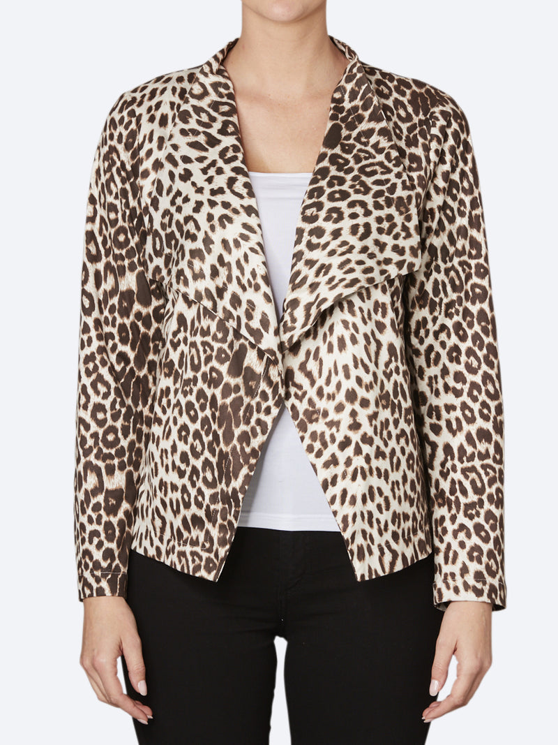 PING PONG ANIMAL FAUX SUEDE JACKET