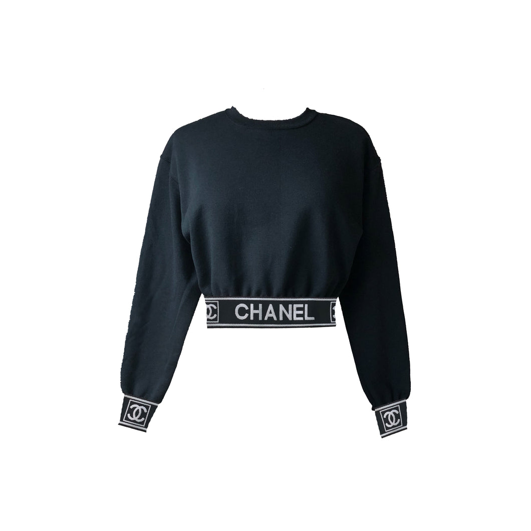 Chanel Ladies Crop Top (Black)
