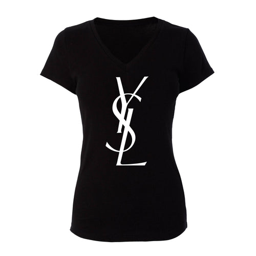 YSL Woman's V-Neck Shirt (Various Colors)