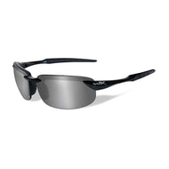 Wiley X Polarized Sunglasses - Tobi Silver Flash / Gloss Black Frame
