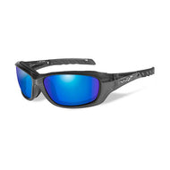 Wiley X Polarized Sunglasses - Gravity Blue Mirror Lens / Black Crystal Frame