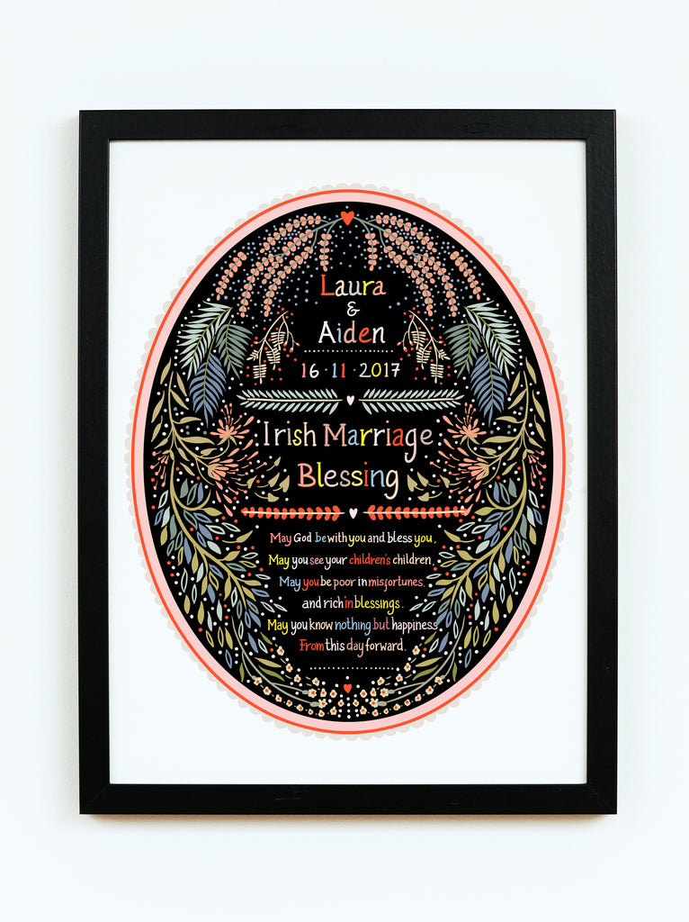 Bespoke Irish Wedding Blessing Print