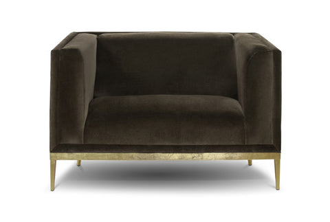 Velvet Trade Restoration Hardware Occasional Chair Occasional Mohair Lux Lounge Furniture Custom Brass BOND Banks ABC Home 1st dibs holly hunt kelly wearstler