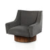BOND Design Studio walnut velvet Trade Restoration Hardware Occasional Chair Occasional mohair Lux Lounge grey gray Furniture custom BOND black Adrian ABC Home 1st dibs holly hunt kelly wearstler