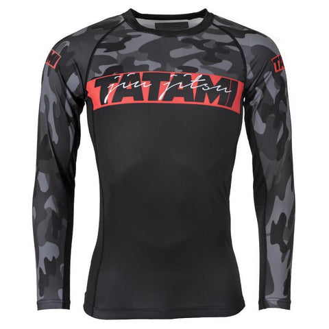 Red Bar Camo Long Sleeve Rash Guard