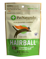 PET NATURALS HAIRBALL RELIEF CAT TREATS