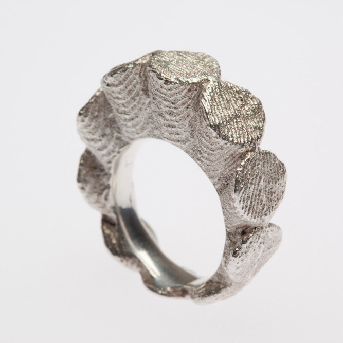 Custom Sterling Silver Ruffle Ring