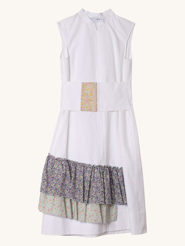 Liberty Corset Dress in White