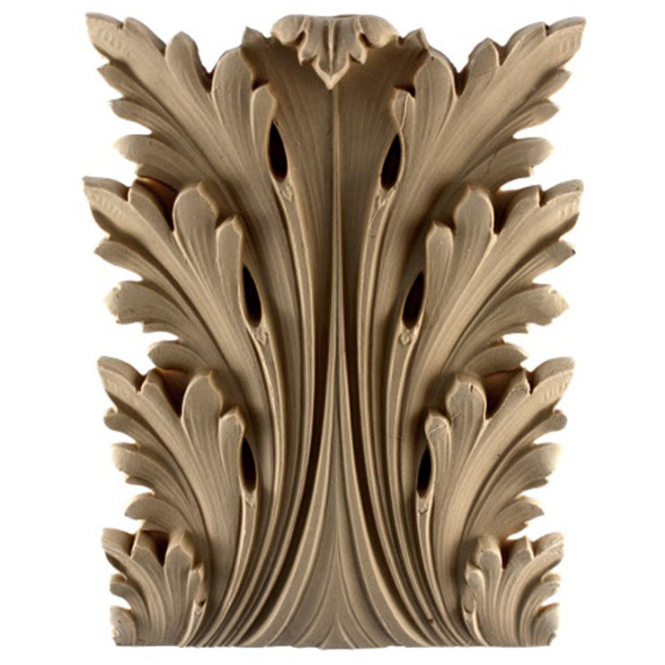 "Brockwell's 7""(W) x 9-3/8""(H) x 1-1/2""(Relief) - Renaissance Acanthus Leaf - Ornate Applique - [Compo Material]- - ColumnsDirect.com"