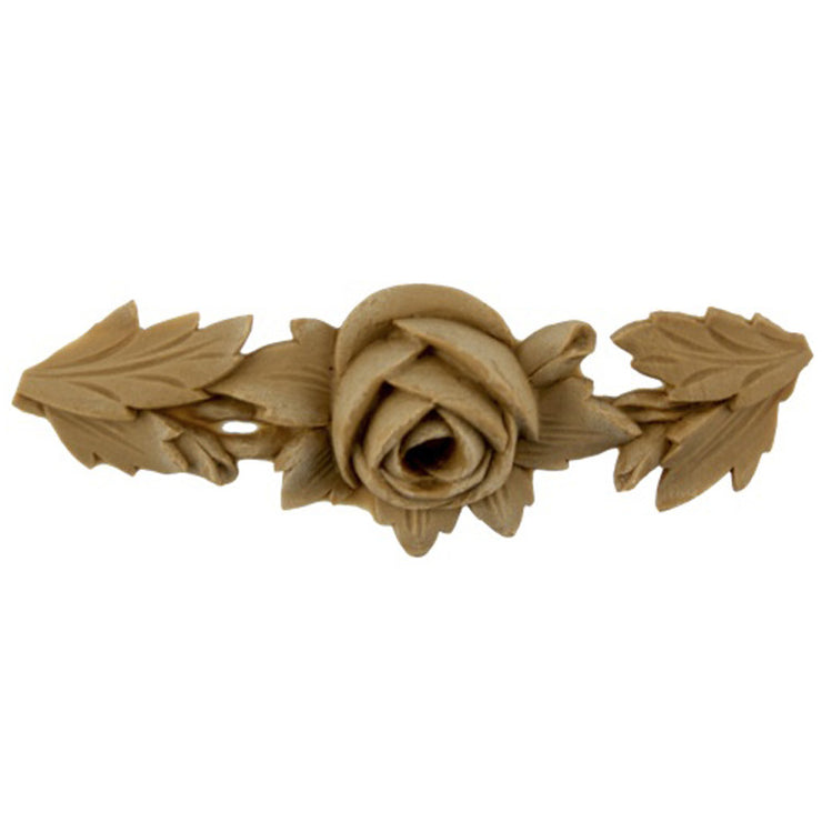 "Brockwell's 4""(W) x 1-1/2""(H) - Floral Rose Ornament - Stain-Grade - [Compo Material]- - ColumnsDirect.com"