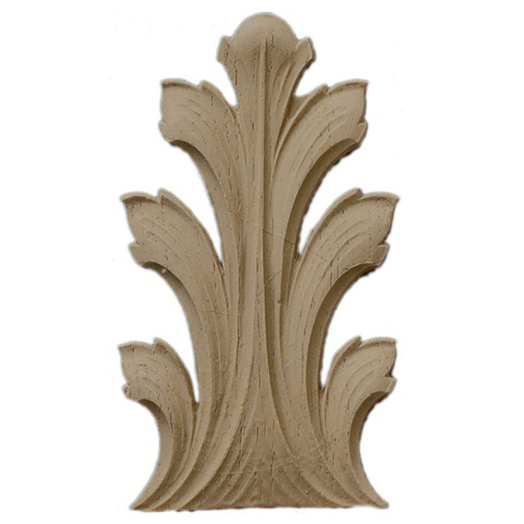 "Brockwell's 3""(W) x 5-1/4""(H) - Interior Stain-Grade Accent - Acanthus Leaf - [Compo Material]- - ColumnsDirect.com"