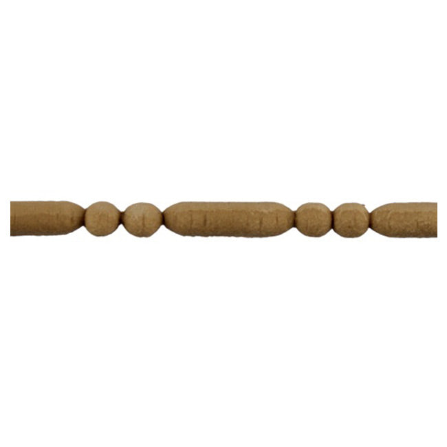 "3/8""(H) x 5/16""(Relief) - Stainable Linear Moulding - Roman Bead & Barrel Design - [Compo Material] - ColumnsDirect.com"