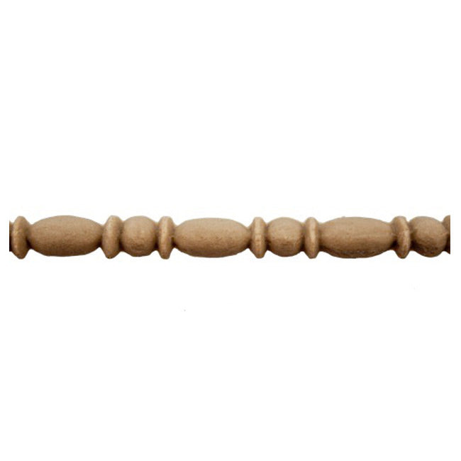 "9/32""(H) x 5/32""(Relief) - Linear Moulding - Roman Bead & Barrel Style - [Compo Material] - ColumnsDirect.com"