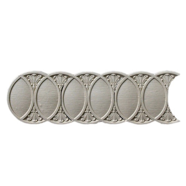 "Stain-Grade 3-5/8""(H) x 1/8""(Relief) - Roman Interlocking Rings Linear Molding Design - [Compo Material]"