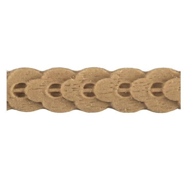 "Stain-Grade 7/8""(H) x 3/16""(Relief) - Stain-Grade Running Coin Linear Molding Design - [Compo Material]"