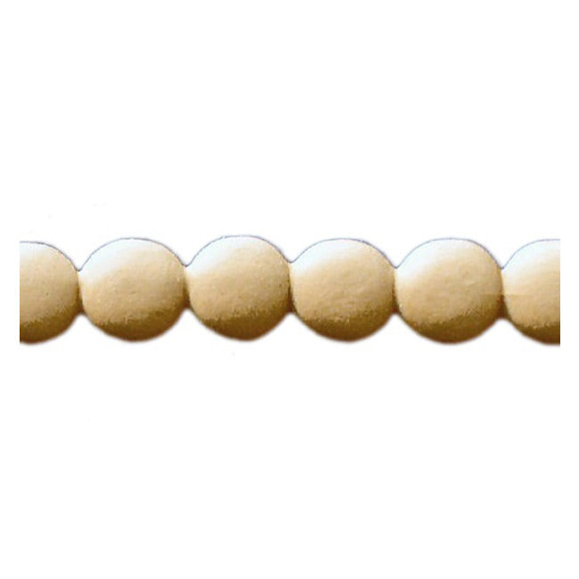 "Brockwell Incorporated's 1""(H) x 1/4""(Relief) - Interior Stain-Grade Renaissance Bead Linear Molding Design - [Compo Material]"