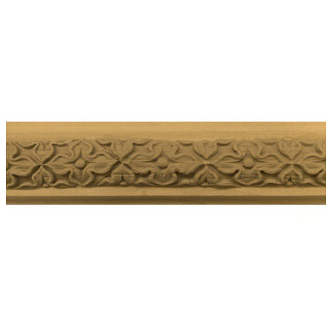 "Buy 1-3/4""(H) x 11/16""(Proj.) - Floral Onlay Panel Molding Design (Poplar) - [Wood Material] - Brockwell Incorporated"