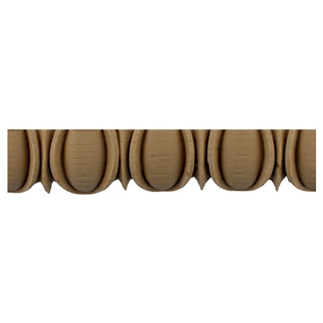 "Historic 1-1/2""(H) x 11/16""(Relief) - Stainable Moulding - Greek Egg & Dart Design - [Compo Material] = ColumnsDirect.com"