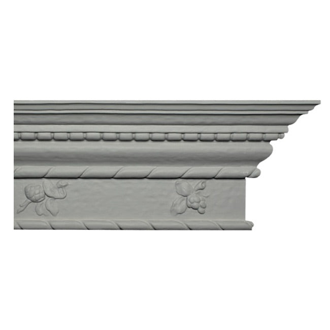 "9""(H) x 4-3/4""(Proj.) - Repeat: 40"" - Tudor Style Crown Molding Design - [Plaster Material] - Brockwell Incorporated"