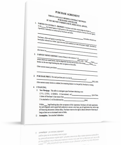 Real Estate Contract - FREE Printable 1 Page Document