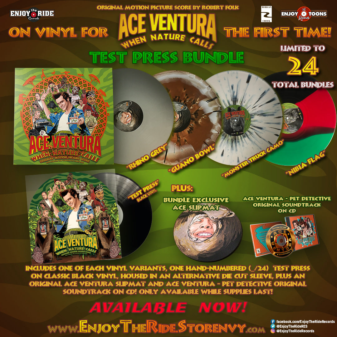 ACE VENTURA: WHEN NATURE CALLS- TEST PRESS BUNDLE (ETT014/ETR070)