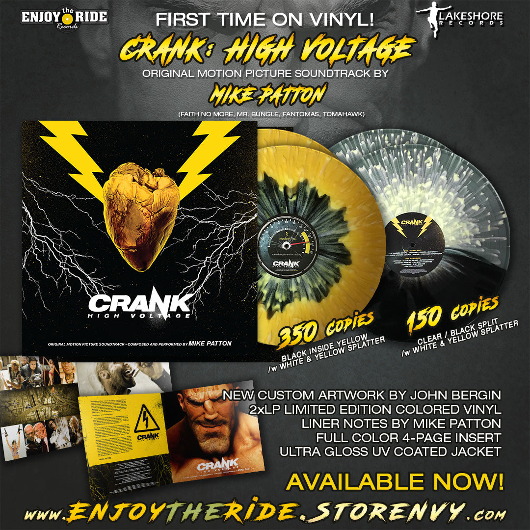 CRANK:HIGH VOLTAGE SOUNDTRACK BY MIKE PATTON 2xLP (ETR060)