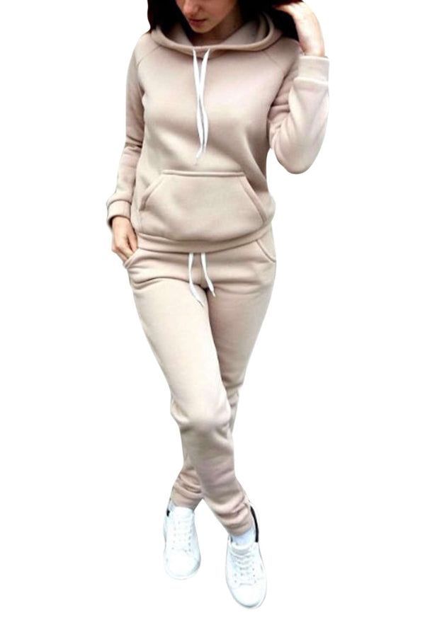 Iyasson Basic Hooded Sweater and Jogger Set