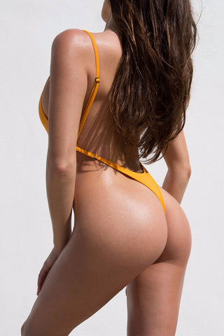 Ultra Sexy High Leg Thong Low Back One Piece Swimsuit