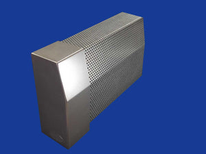 EZ Snap Baseboard Heater Cover Standard Galvanized Left Endcap Closed