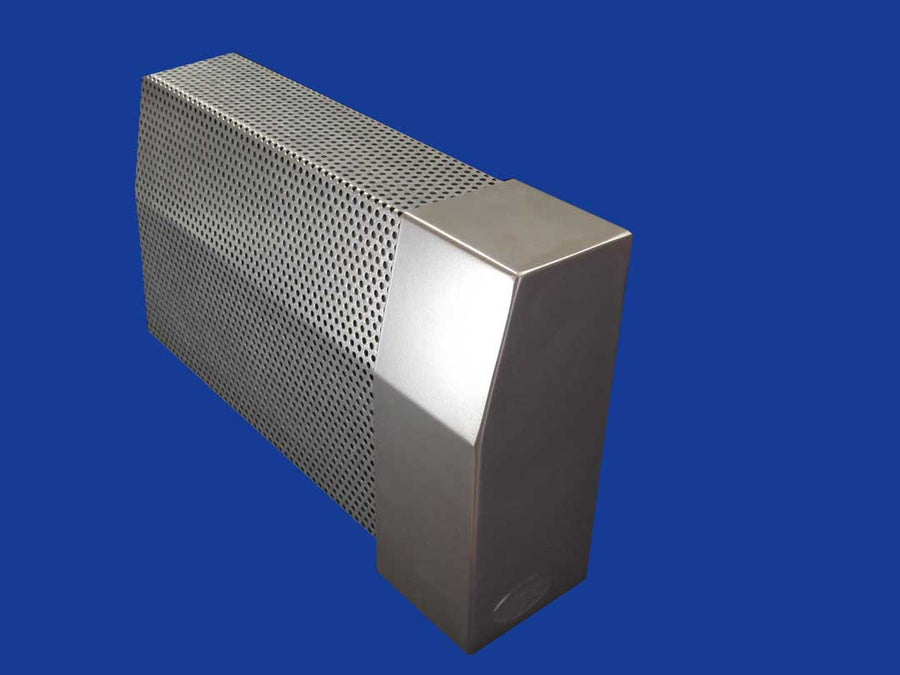 EZ Snap Baseboard Heater Cover Standard Galvanized RIght Endcap Closed