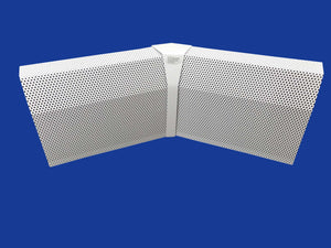 EZ Snap Baseboard Heater Cover Tall White 45 Degree Inside Corner