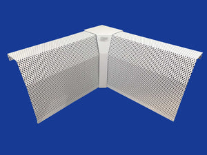 EZ Snap Baseboard Heater Cover Tall White 90 Degree Inside Corner